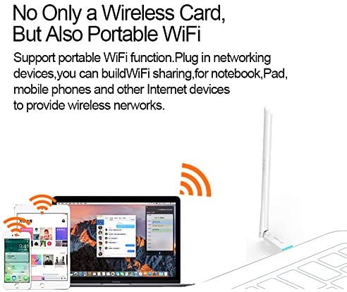 Plug and Play for Laptop PC External USB Network Card Portable Wi-Fi Hotspot Receiver DZSF U2 150Mbps High Gain Wireless Network Adapter