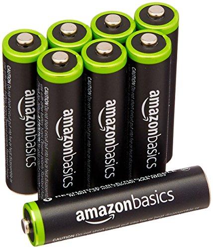 AmazonBasics Vorgeladene Ni-MH AAA-Akkus - Akkubatterien (1.000 Zyklen, typisch 800mAh,  1.2 V ,minimal 750mAh) 8 Stck (Design kann von Darstellung abweichen)