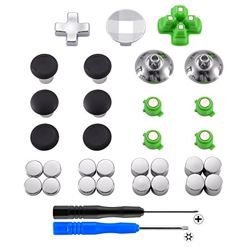 - eXtremeRate Magnetic Metal Bullet Buttons Dpads, Aluminium Thumbstick Joystick Adustable Height, Replacement Parts for Playstation 4, PS4 Slim,PS4 Pro Controllers (31 in 1)