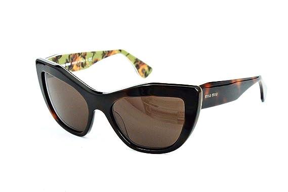 03f1348edd7f Source · Miu Miu 02PS ROQ9S1 Tortoise 02PS Rasoir Cats Eyes Sunglasses Lens