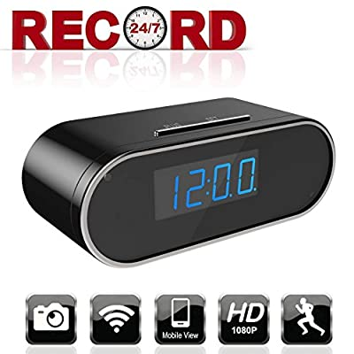 Aurola WiFi 1080P Hidden Camera Clock, Spy Camera, Nanny Camera with with Motion Detection Loop Recording for Home and Office Security Surveillance from Aurola