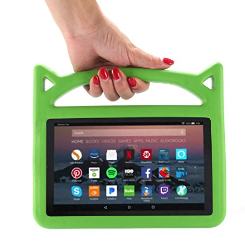 F i r e 7 2017 Case, F i r e 7 Tablet Case, F i r e 7 Kids Case, Lmaytech Kids Shock Proof Protective Cover Case for A m a z o n F i r e 7 Tablet (Compatible with 5th 2015/7th 2017) (Green) For Sale