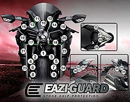eazi-guardtm piedra Chip protección Kawasaki Ninja H2 2015 ...