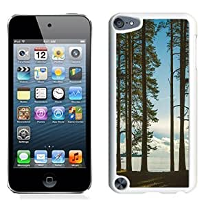 NEW Unique Custom Designed iPod Touch 5 Phone Case With Tall Trees Lake_White Phone Case