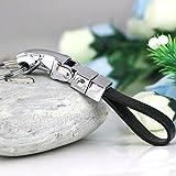 Maycom® Detachable Jaguar Panther Leopard Genuine Leather Clip on Belt Keyring Keychain Key Chain Ring Keyfob Keyrings 84027-1