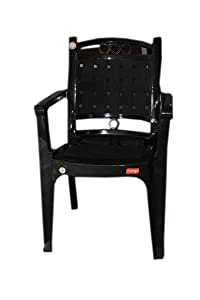 NVS Mango Benj Plastic Chairs (Black)