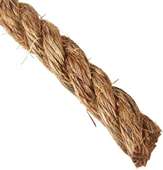 """Indusco 72100156 Manila Rope Poly Wrapped Coil, 3 Strands, 3/4"""" Diameter x 200' Length, 992 lbs Working Load Limit"""