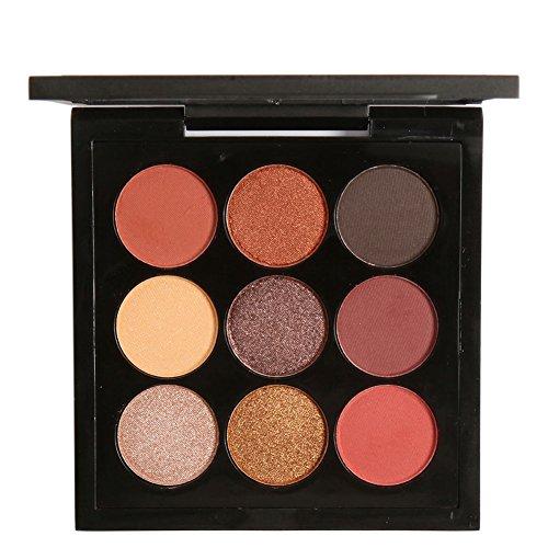 Shouhengda Shimmer Earth Tone Eyeshadow Palette Metallic Matte Eye Shadow Cosmetic (A05)