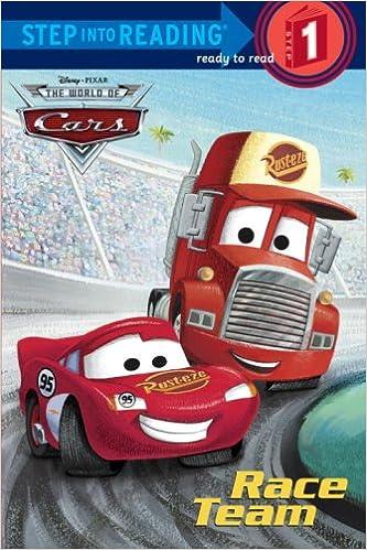 amazoncom race team disneypixar cars step into reading 9780736425711 rh disney books - Disney Cars Books