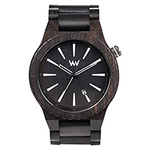 WeWood ASSUNTBLK Men's Black Wood Bracelet Band Black Dial Smart Watch