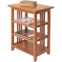 Manchester Wood Mission 3-Shelf End Table - Golden Oak