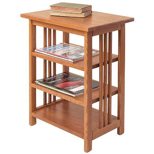 Manchester Wood Mission 3-Shelf End Table - Golden Oak