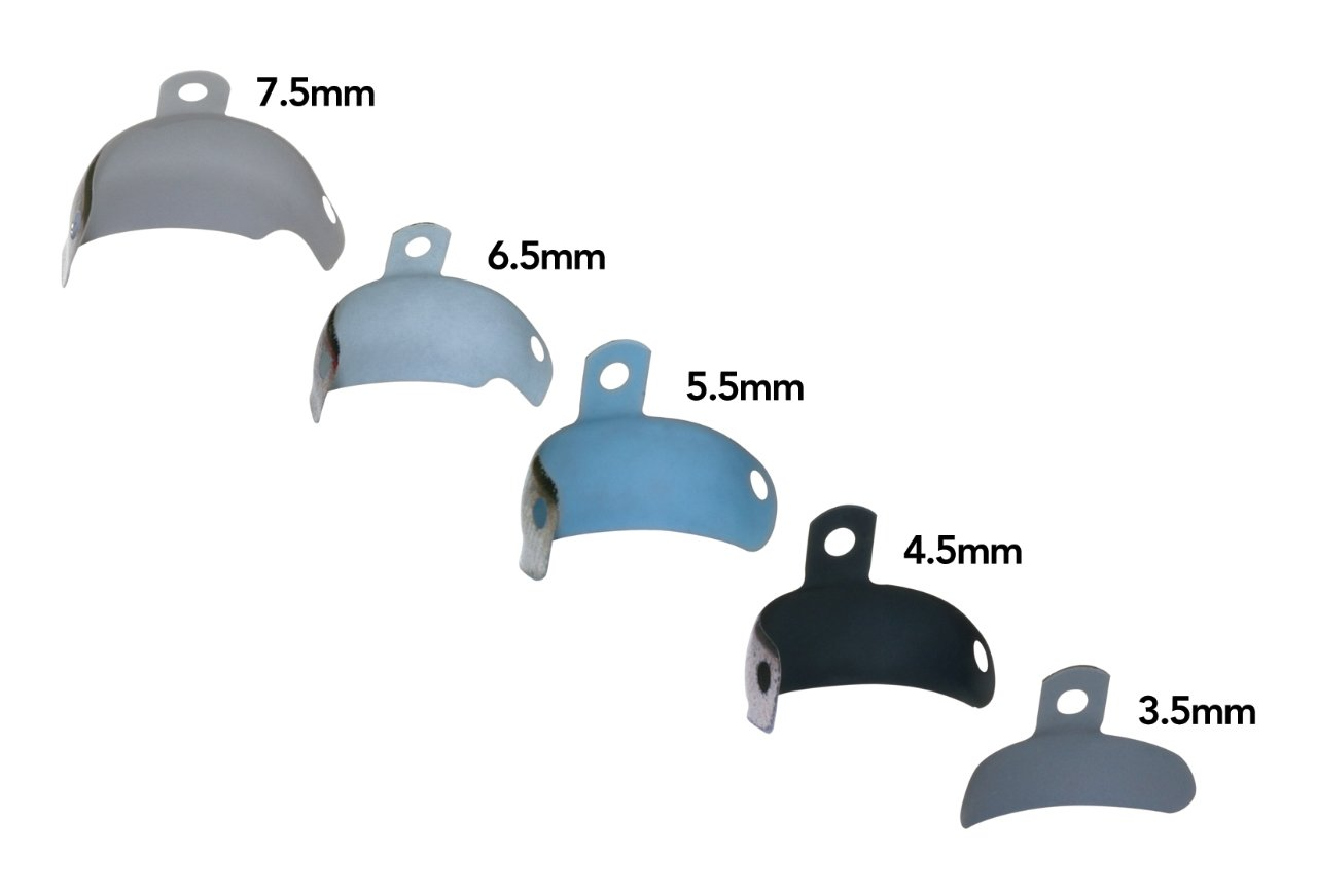 Dentsply 659640 Palodent Plus Sectional Matrix System EZ Coat 5.5 mm Matrices Refill, Medium Blue (Pack of 90)