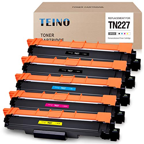 TEINO Compatible Toner Cartridge Replacement for Brother TN227 TN-227 TN223 TN-223 for Brother MFC-L3770CDW MFC-L3750CDW MFC-L3710CW HL-L3290CDW HL-L3210CW (2 Black, Cyan, Magenta, Yellow, 5 Pack) -  TEINO (no brother-oem), TN227 MFC-L3770CDW toner