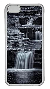 Cool Art Coming Down Gently Hard Plastic Back Case Cover for iphone 5C Transparent (526 art) _619103