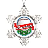 Xmas Trees Decorated Baseball Coach Snowflake Ornaments Coach