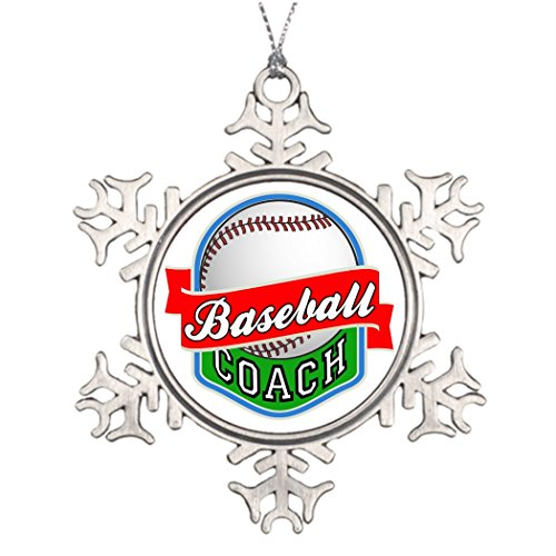 Xmas Trees Decorated Baseball Coach Snowflake Ornaments Coach by Call ME BAby (Image #1)