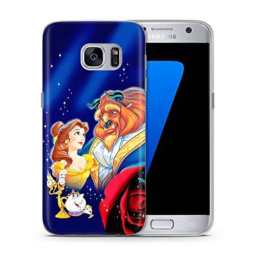 iPhone 8 Plus La Bella y La Bestia Estuche de Silicona / Cubierta de Gel para iPhone 8 Plus (5.5) / Protector de Pantalla y Paño / iCHOOSE / Vista Estrellas