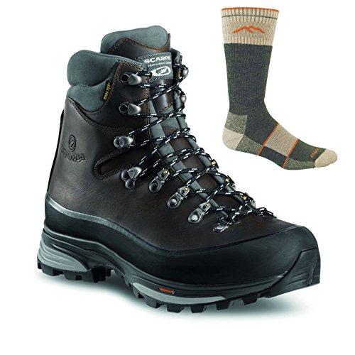 SCARPA Men's Kinesis Pro GTX Backpacking Boots Ebony w/Socks - 43