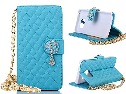 note-5-case-welity-blue-color-camellia-bling-rhinestone-soft-leather-grid-crystal-wristlet-chain-pu-