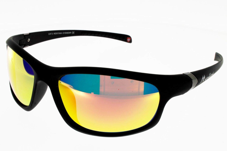 Montana gafas de sol SP 310 B Plástico Mate Negro Gris ...