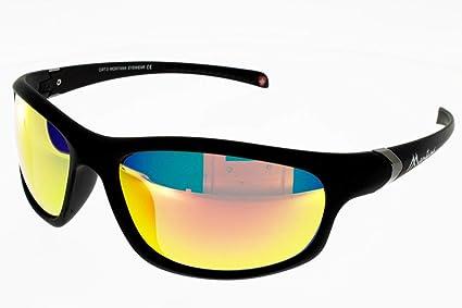 Montana gafas de sol SP 310 B Plástico Mate Negro Gris polarizado con efecto de espejo