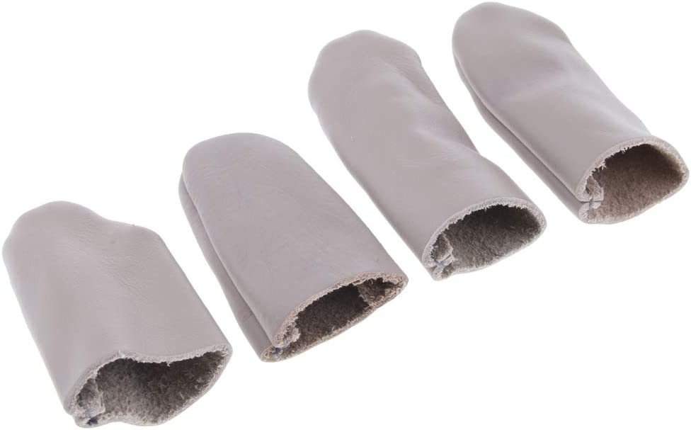 2 Pair Leather Thumb /& Finger Protector Guards Craft Needle Pin Felting Tool