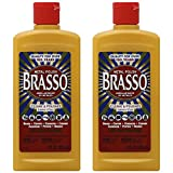 Brasso Metal Polish, 8 oz Bottle for Brass, Copper, Stainless, Chrome, Aluminum, Pewter & Bronze, 8 oz (Pack of 2)