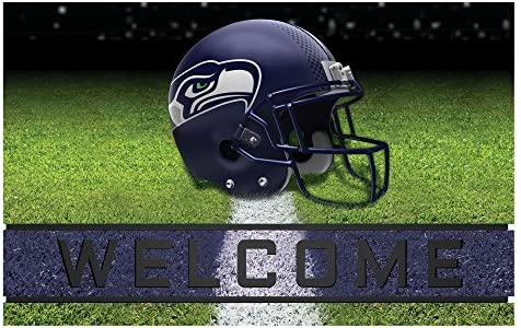 NFL Seattle Seahawks Heavy Duty Crumb Rubber Door Mat