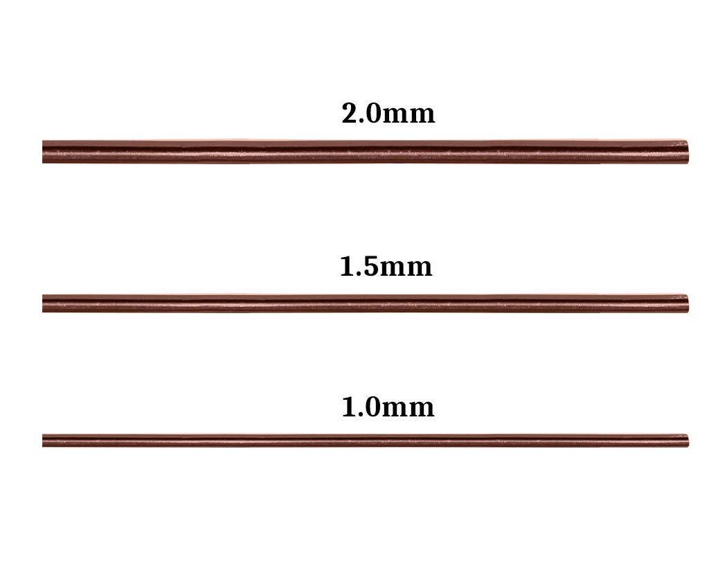 1,0mm // 1,5mm // 2,0mm, 10 mt f/ür jede gr/ö/ße Braun SCSpezial 3 St/ücke 10 mt Bonsai Draht Handwerk Aluminiumdraht Bonsai Training Tools
