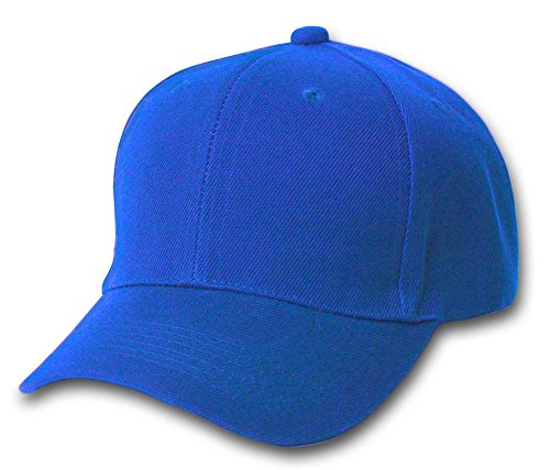 TOP HEADWEAR Structured Baseball Hat Cap, Royal Blue -