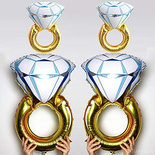 4pcs Diamond Engagement Wedding Ring Balloons - 45