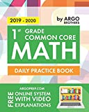img - for 1st Grade Common Core Math: Daily Practice Workbook | 1000+ Practice Questions and Video Explanations | Argo Brothers book / textbook / text book