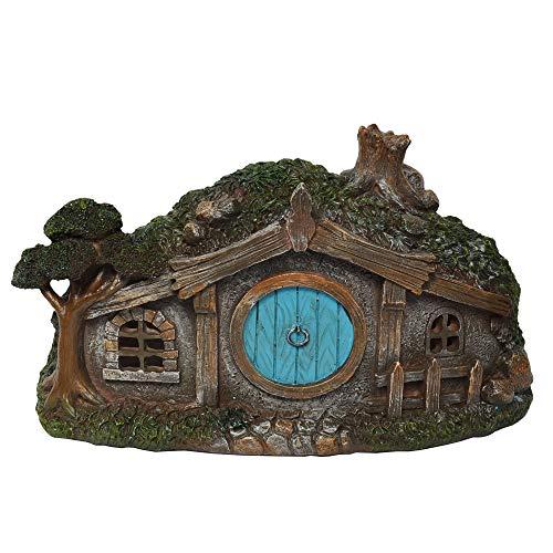 - Hi-Line Gift Ltd Sod Roof Hobbit House for Miniature Garden, Fairy Garden