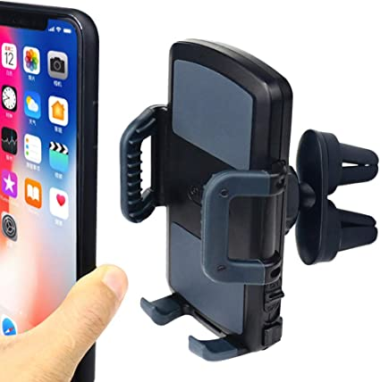 Car Phone Holder Auto-Clamping Air Vent Car Mount Holder Cradle Compatible for iPhone Xs Max X XR 8 Plus 7 6 6S Samsung Galaxy S10 Plus S9 S8 Note 9 8 S7 Edge S6 and More