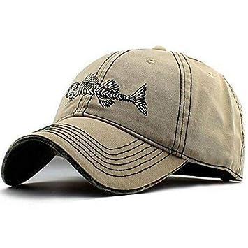 akizon Hombres de ajustable Gorra de béisbol estilo gorras de pesca con pez Bones Papá Sombreros Para Hombres: Amazon.es: Ropa y accesorios