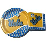 NCAA Collegiate UCLA Bruins Dinner Paper Plates (16) Napkins (20) Party Package
