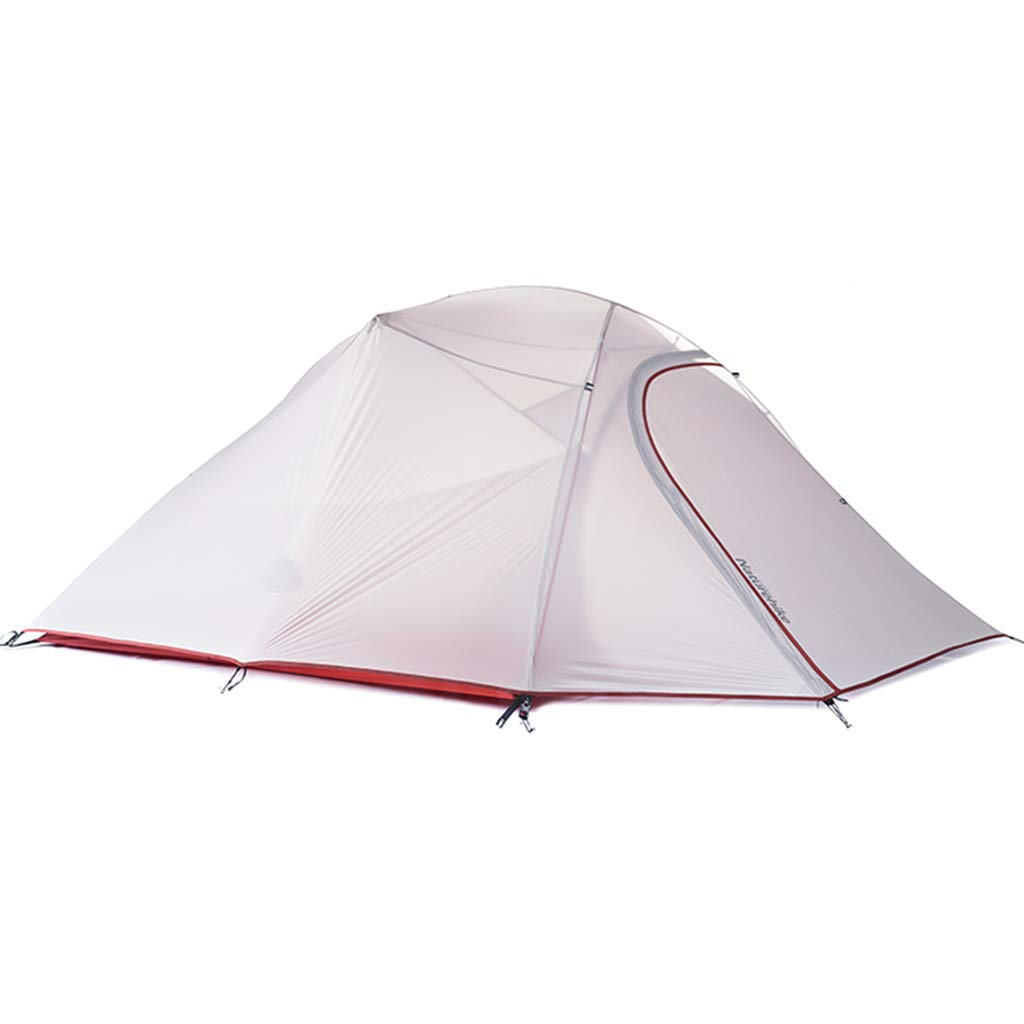 YaNanHome Zelt im Freien Zelt doppelt regendichtes Zelt 2-3 Personen Zelt Zelt Paar Zelt Wandern Zelt (Farbe : Weiß, Größe : 215  180  110cm)