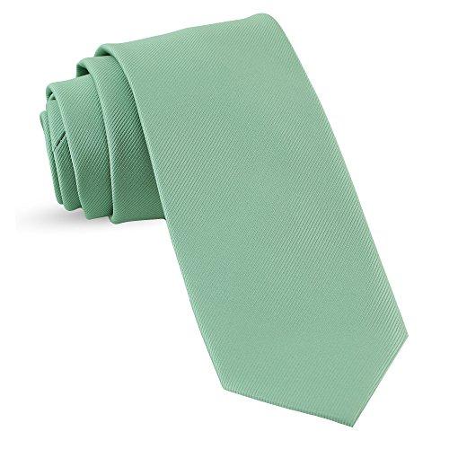 (Handmade Seafoam Green Ties For Men Skinny Woven Slim Tie Mens Ties : Thin Necktie, Solid Color Neckties 3