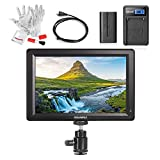 Feelworld F7 7 Inch IPS Full HD 1920x1200 On Camera Field Monitor Supports 4K HDMI Input/Output 1200:1 High Contrast 450cd/m2 High Brightness 160 Wide Viewing Angle - 2200mAh Battery Kit Included