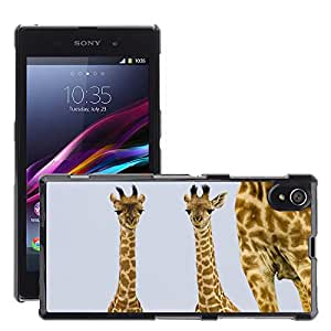 Hot Style Cell Phone PC Hard Case Cover // M00046867 two animals giraffe mara masai kenya // Sony Xperia Z1 L39H