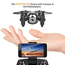 Mini Drone with HD Camera WiFi FPV Live Video, One Key Return, Headless Mode, 2.4GHz 6 Axis Gyro Remote Control Helicopter Small Quadcopter Drone for Kids Beginners Adults