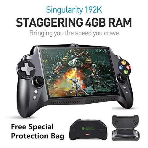 New JXD S192K 7 inch IPS screen 4GB+64GB quad core tablet pc gamepad android game console 10000mAh battery bluetooth support Google Store andriod game/pc game/18 simulators game support button mapping (Best Arcade Games For Android 2019)