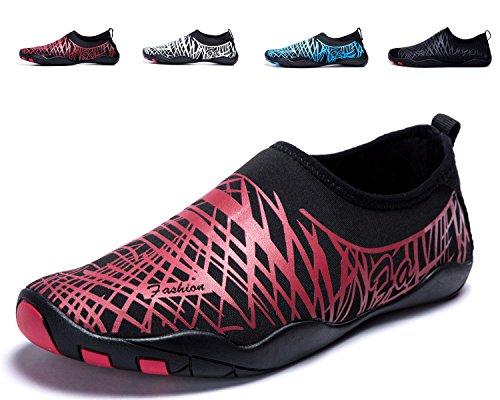 de Soles A Zapatos de Color pink Playa de Piscina LeKuni Agua de Natación Rápido Unisex Calzado de Secado Agua Zapatos Respirable pPqxE1f