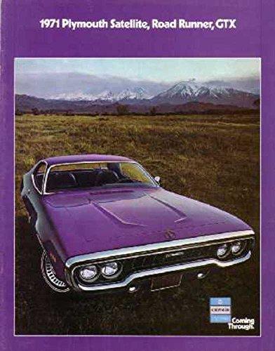 1971 Plymouth GTX Road Runner Satellite Sales Brochure Literature Advertisement