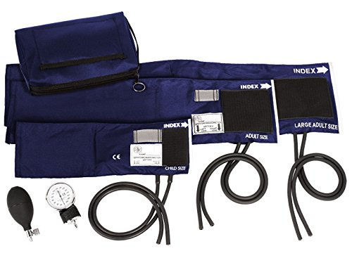 Prestige Medical 3-in-1 Aneroid Sphygmomanometer Set with Carry Case, Navy by Prestige Medical