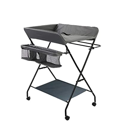 Mesa para cambiar pañales Cambiador para bebés con Ruedas, tocador para estación de Almacenamiento para