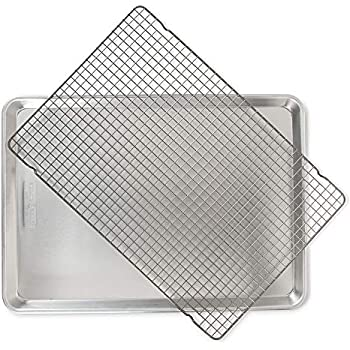Nordic Ware 44612 2 Pc Naturals Big Sheet W/Oven Safe Nonstick Grid, 2-Piece Set, Aluminum
