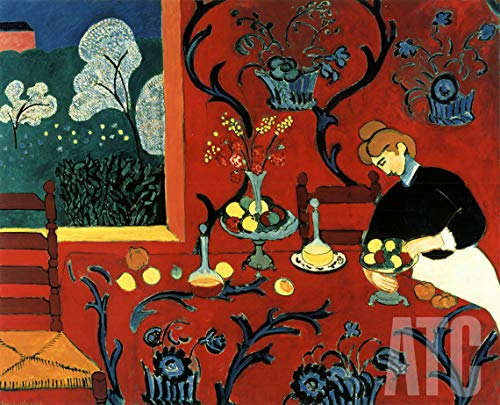 - ArtToCanvas 41W x 33H inches : Harmonie en Rouge by Henri Matisse - Paper Print ONLY