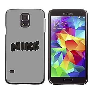 Caucho caso de Shell duro de la cubierta de accesorios de protección BY RAYDREAMMM - Samsung Galaxy S5 SM-G900 - Funny logo